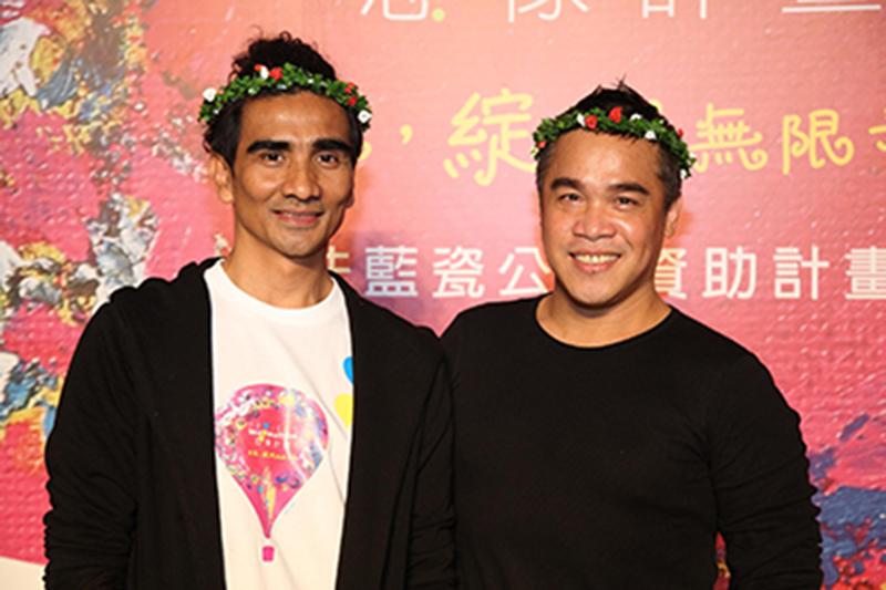 第四屆想像計畫大使-布拉瑞揚(圖左)與優席夫(圖右)合影+