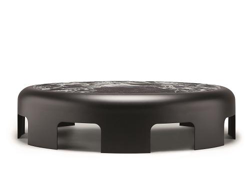 7. 黑白大理石8拱弓形桌1