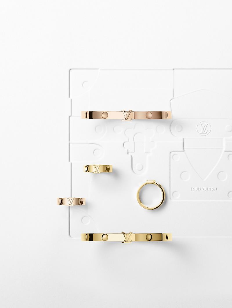 Louis Vuitton - Empreinte 黃K金與玫瑰金 手鐲與戒指