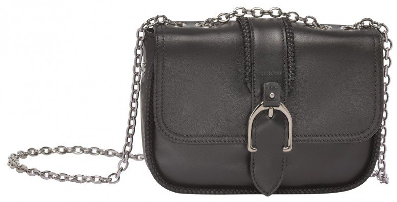 Longchamp Amazone 系列肩背包_黑色_參考售價NT$22,200 (XS)- 10022930001