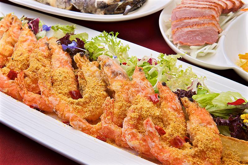 北投亞太尾牙春酒菜色-彩漾風砂軟殼蝦