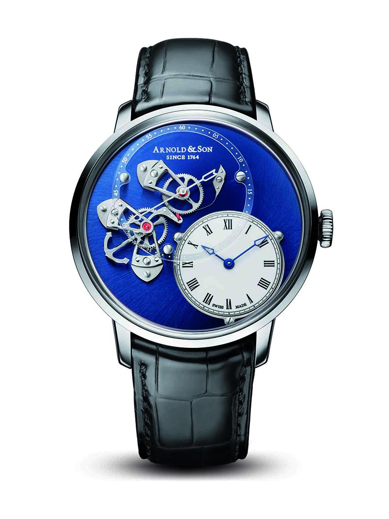 圖4.Arnold&Son儀表系列_DSTB錶盤跳秒腕錶 建議售價NT$1,009,800