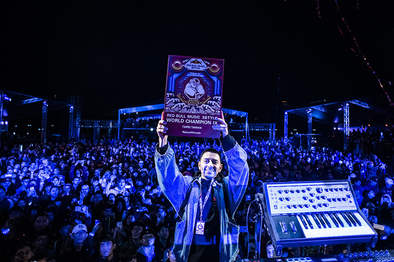 name at the Red Bull Music 3Style National Final in Taipei, Taiwan on November 30th, 2018.