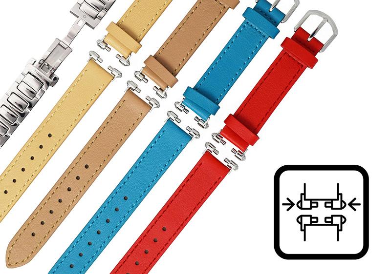 圖3.「時尚快拆」功能,讓佩戴者可選擇鮮明的多色錶帶依心情搭配