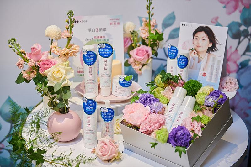 潤肌精植淬白系列睽違五年全面升級,特別與台北花苑合作花禮