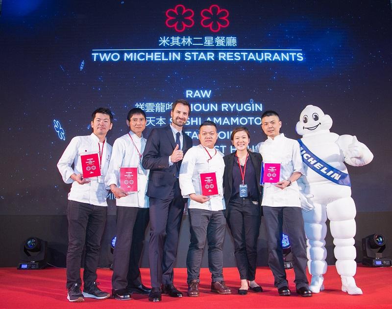 【新聞照片2】第二屆台北米其林指南正式公布 共有5家餐廳獲得二星(照片提供:台灣米其林)