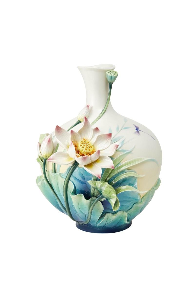 清蓮雅潔 蓮花瓷瓶 限量988