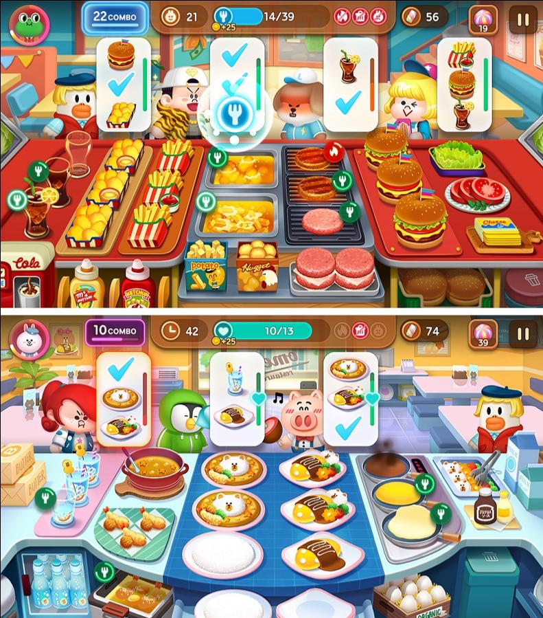 《LINE 熊大上菜》遊戲畫面