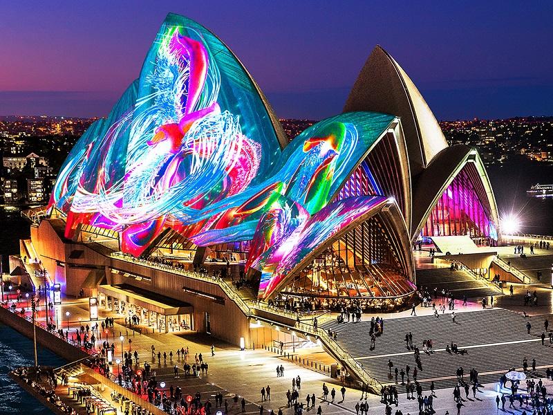 【易遊網】繽紛雪梨燈光音樂節VIVID SYDNEY_Austral Flora Ballet(圖片來源:Destination NSW)
