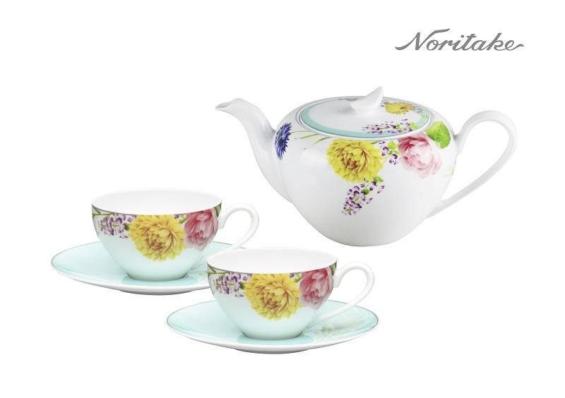 Noritake野宴一壺+咖啡對杯(23-1709-94923+2)