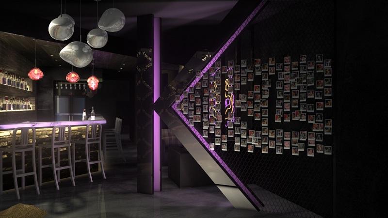一樓入口意象牆3D圖