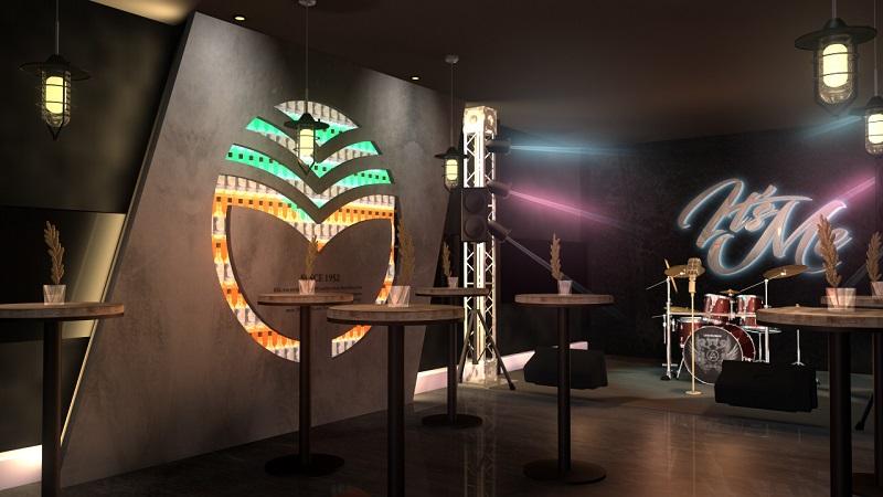 二樓左側金門酒廠Logo燈櫃3D圖