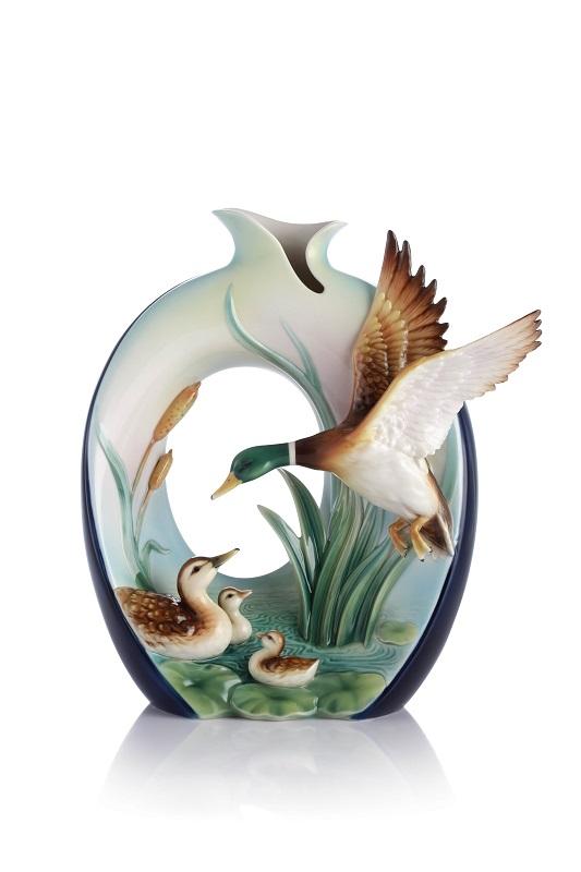 法藍瓷 守護 綠頭鴨瓷瓶_售價NT 22,900_單品照