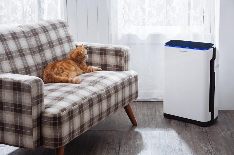 圖五:Honeywell_智慧淨化抗敏空氣清淨機, 顆粒活性碳濾網,除臭效果更佳,和家中毛小孩一起幸福生活