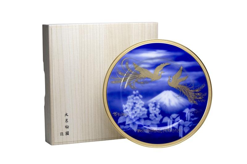box鳳凰榮白樺文展示盤28cm