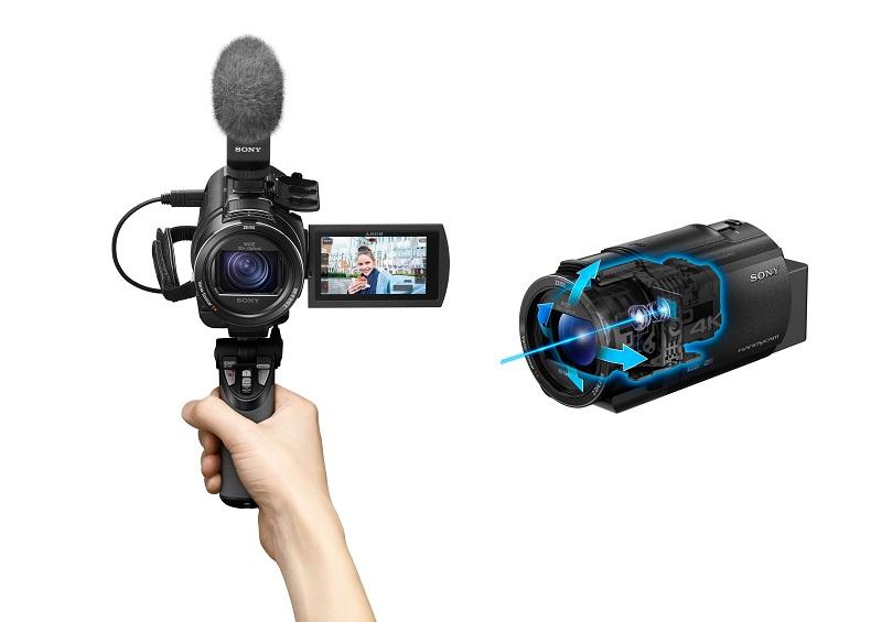 圖2) Sony FDR-AX43 搭載內建穩定器結構的全方位防手震功能,不論行走或跑步過程中拍攝畫面,都能保持平穩流暢。