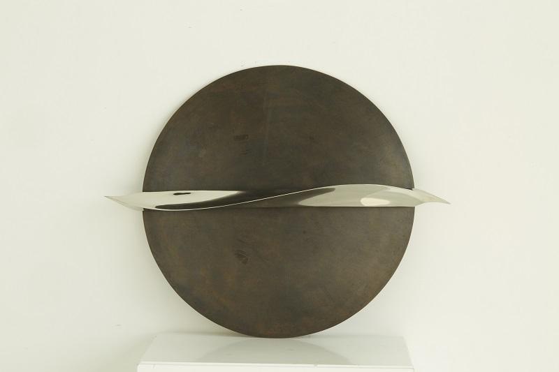 Dlin-16-1, 與神對話39,2010-2019,Φ60_76cm,不锈钢