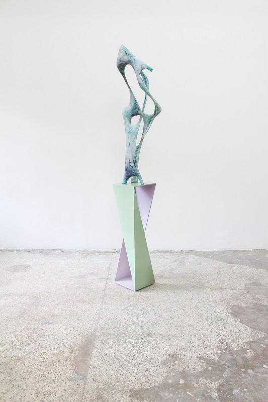 Wfla-08, Sculpture_J093010-Ab_, appr. 227x32x37cm, 2015, wood, mdf, papermache, paint, enamel