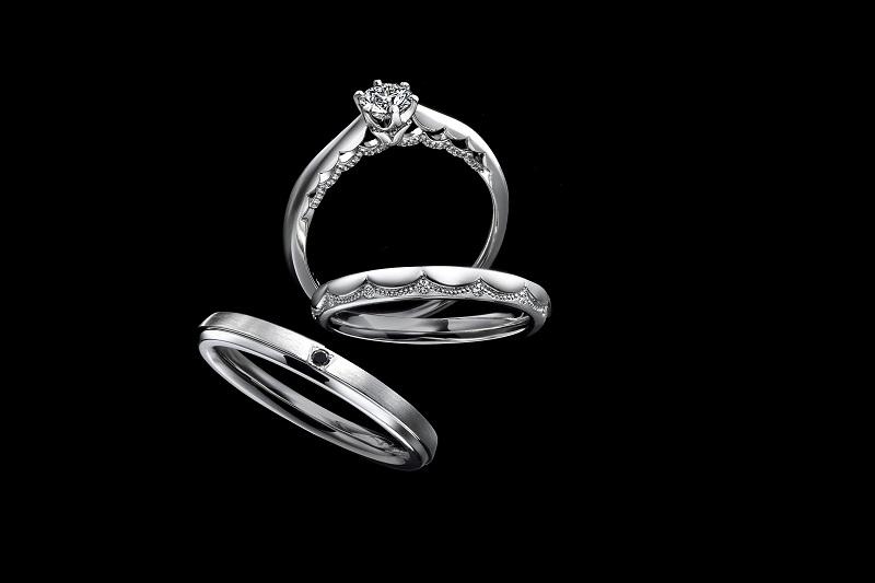 【商品照】EXELCO DIAMOND品牌三大熱銷系列 Le Voile 鉑金對戒首次亮相