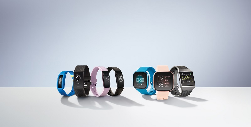 Product laydown photography for Fitbit Versa 2.,,Photographer: Dylan Griffin