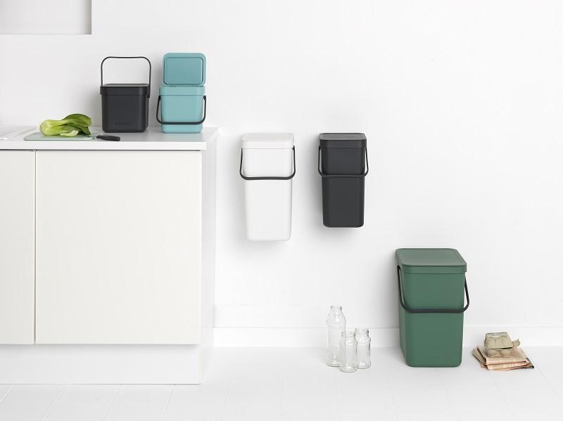 荷蘭Brabantia SORT & GO多用途置物系列,顏色有薄荷、灰色、白色及冷杉綠