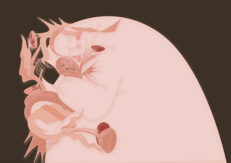 【設計圖騰2】少女祈禱−粉_咖