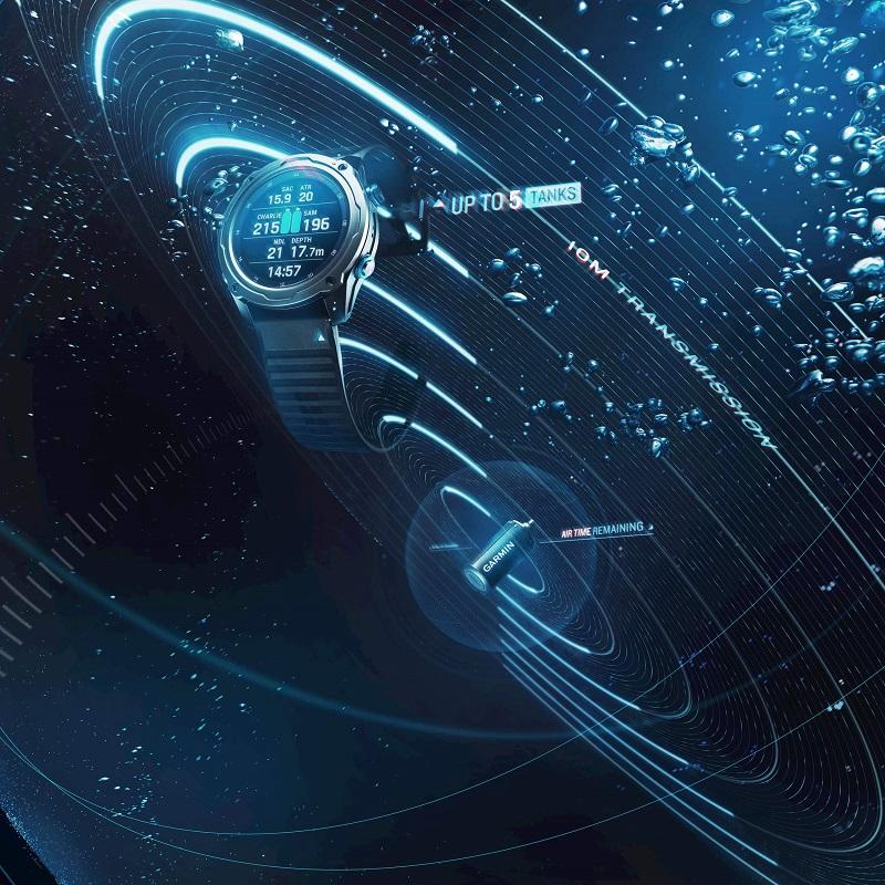 Descent Mk2i搭配Descent T1發射器的應用祭出創新的技術突破 -獨創SubWave 潛聲納技術,Garmin再次開創潛水產業新紀元。