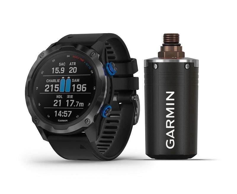 Garmin Descent Mk2i 潛水電腦錶搭配T1發射器發送範圍可達10公尺。