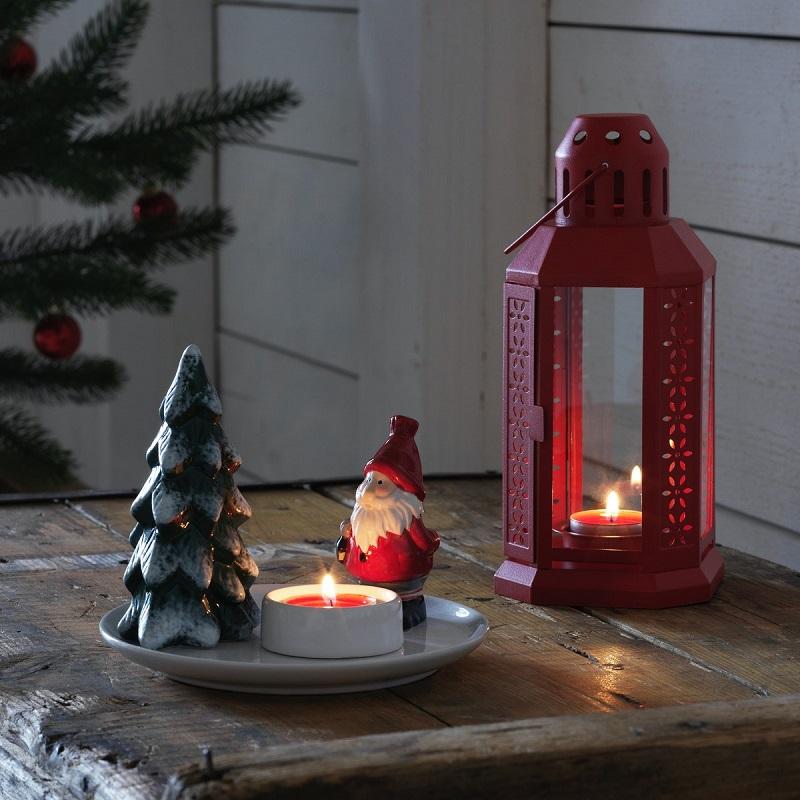 圖說六:蠟燭也是北歐人在營造氣氛時不可或缺的幫手。IKEA聖誕系列,小巧可愛又能增添聖誕氛圍。