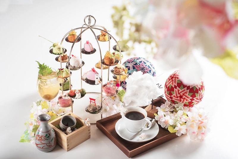 粉色系的午茶時光,六福萬怡推「櫻」式下午茶,來場舌尖上的日本賞春之旅。(圖/六福旅遊集團提供)
