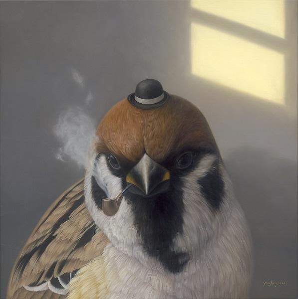 5_LIANG GALLERY 尊彩藝術中心|Yi-Sheng HUANG 黃頤勝|Thoughts of Gentlemen 紳士的思緒|Oil on canvas 油彩、畫布|52×52cm(14S)|2020
