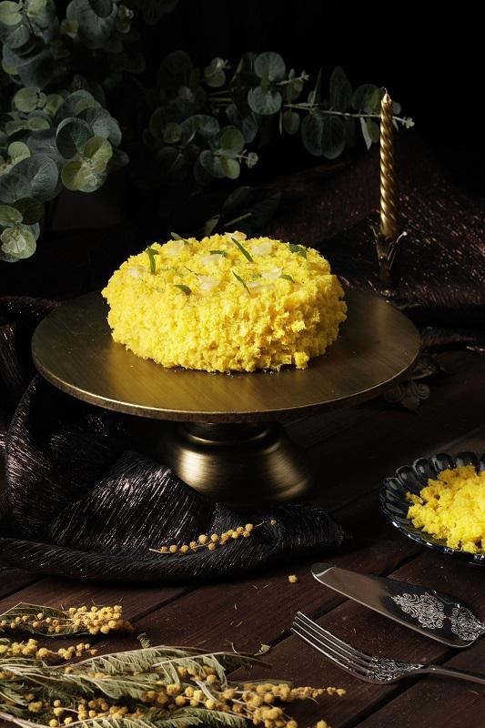 圖說-君品酒店_母親節蛋糕「義大利經典金合歡蛋糕Mimosa Cake」