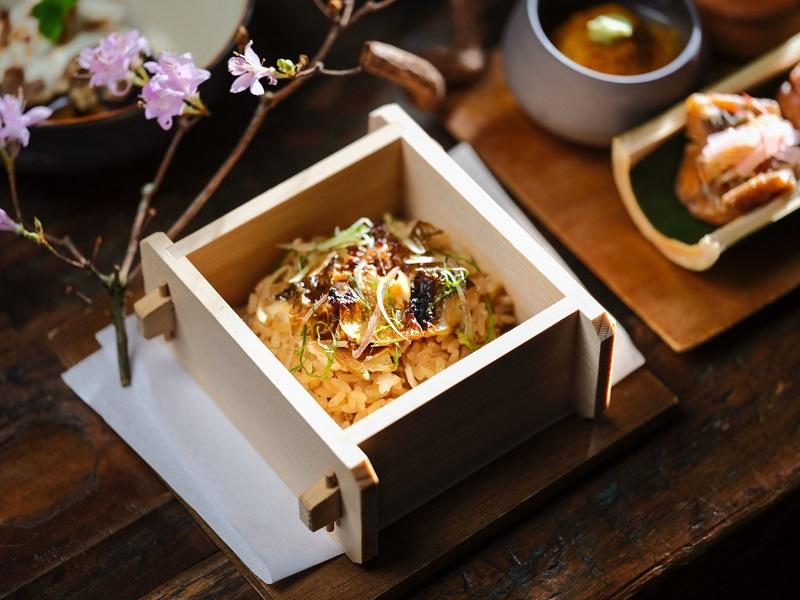 日本會席料亭-燈燈庵「日本會席料理餐盒」北海道王牌米-夢美人之香魚蒸籠御飯