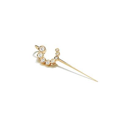 月彎寶石耳針,定價NT$7,200。(圖/ARTISMI提供)