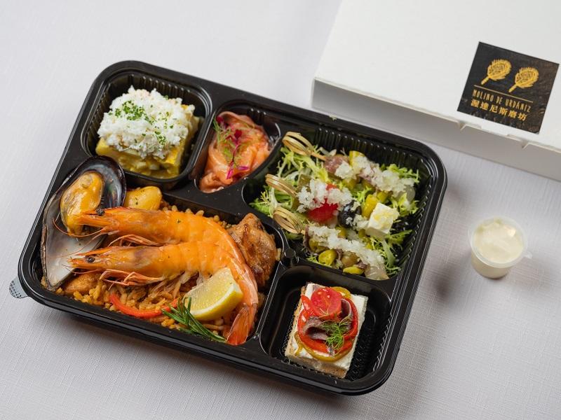 西班牙米其林外帶餐盒480元-主食:西班牙海鮮烤飯_1