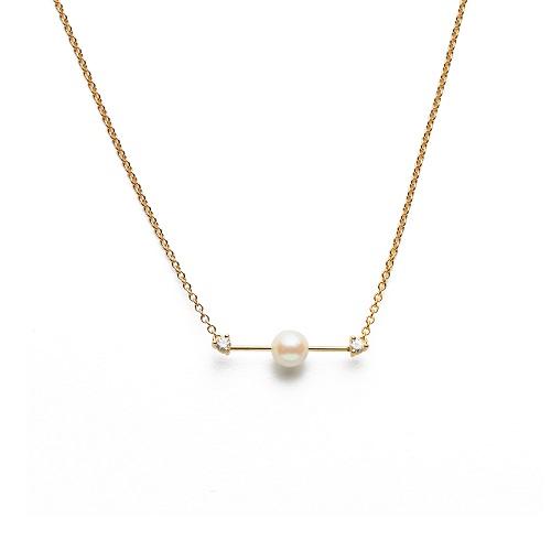 雙箭珍珠項鍊,優惠價NT$7,800。(圖/ARTISMI提供)