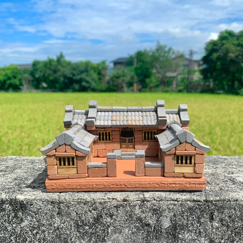 小磚疊疊樂 迷你紅磚三合院材料包 NT$ 1,000