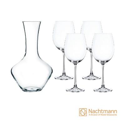 德國Nachtmann維芳迪五件組(醒酒器.紅酒杯) 原價4,500 特價2,250