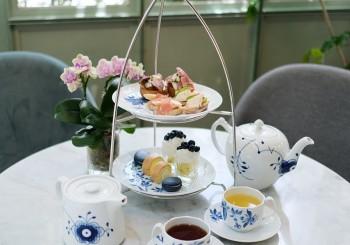 餐桌上的綻藍花園!皇家哥本哈根與山蘭居聯名下午茶