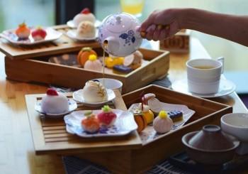 【台北W飯店】31F紫艷酒吧 X Wedgwood 第三波下午茶「JAP-YEN 和風艷」