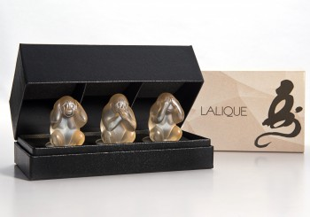 迎接2016丙申猴年,LALIQUE推出智慧靈猴雕像套組