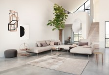 「坐」落在客廳的輕盈優雅的家居美學