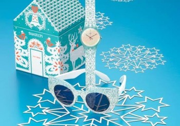 SWATCH 2016限量腕錶   白色雪花纏繞錶帶增添溫馨聖誕氣氛~
