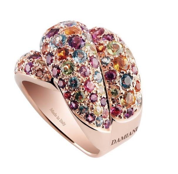 義大利藝術城市命名戒指  繽紛寶石  沁涼一夏
