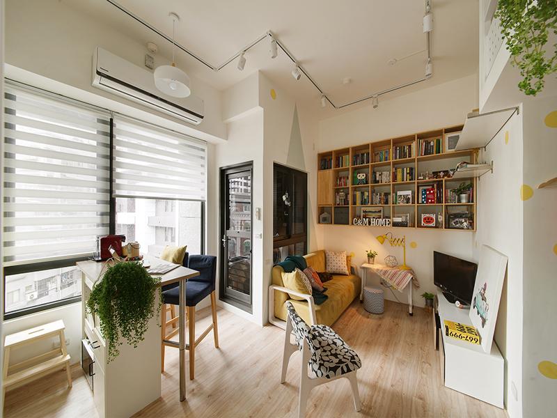 【一葉藍朵設計】微米平方-兩人一貓的幸福寓所