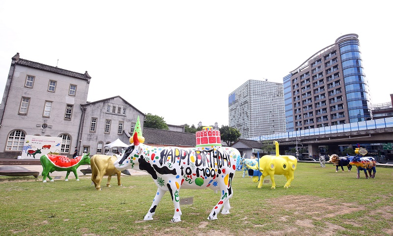 CowParade 2.0「CowParade國際奔牛藝術展」台灣首發 群牛快閃華山大草原